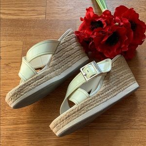 Prada Shoes - Prada Wedge Sandals